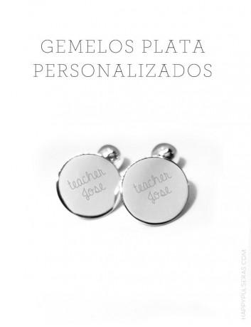 gemelos para regalar personalizados con dedicatoria en plata o acero. Los gemelos más buscados en los blog de moda, gift wedding