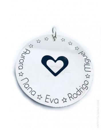 regalo original medalla de plata con dedicatoria especial para regalar con perlas regalo para abuela.