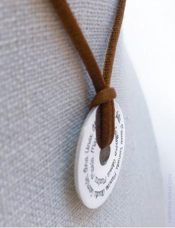 Collar colgante personalizado para maestros con el nombre de los niños. Regalo original para maestros