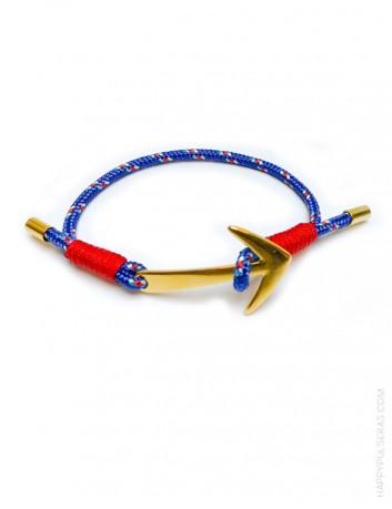 jewerly online pulseras de colores con arpón en dorado, elige color del cabo náutico