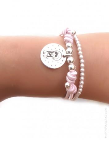 jewerly online pulsera de regalo original para comuniones. Medalla de plata para grabar lo que quieras