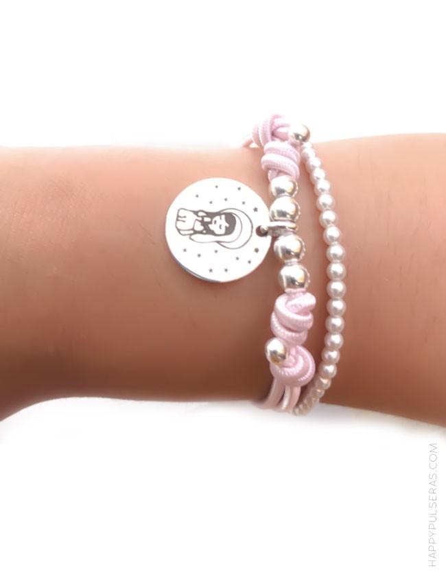 296b22867a46 jewerly online pulsera de regalo original para comuniones. Medalla de plata para  grabar lo que