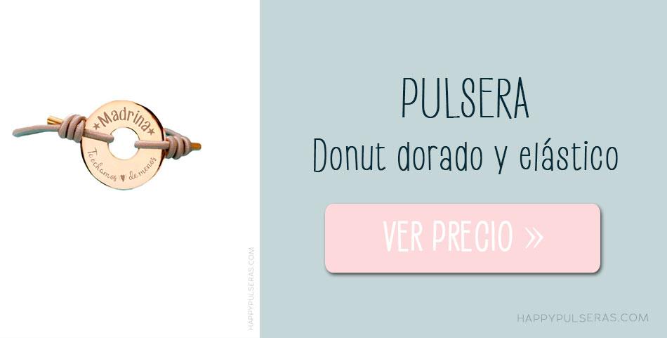 Pulsera donut dorado Happyulseras