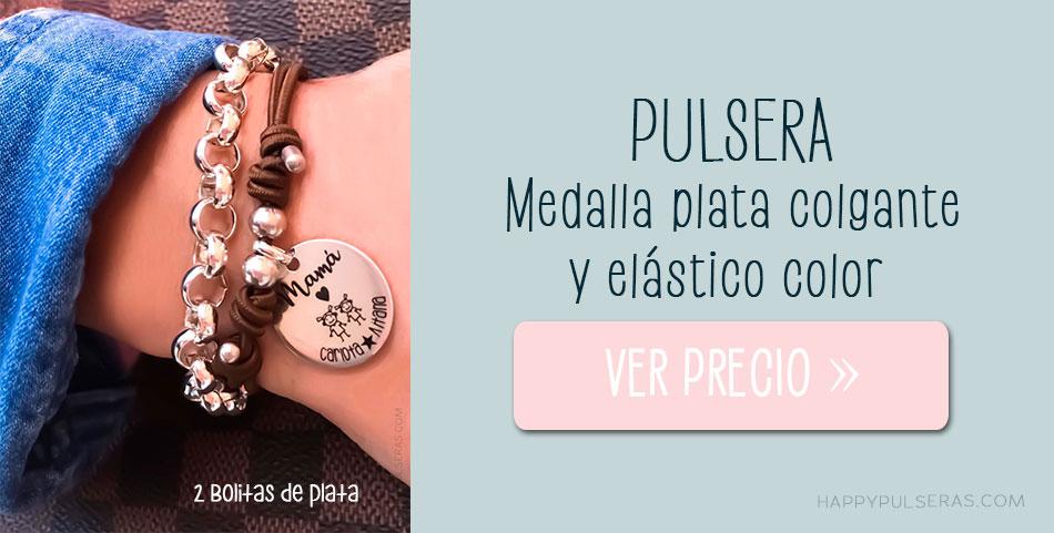 Pulseras personalizadas de plata ideales- happypulseras