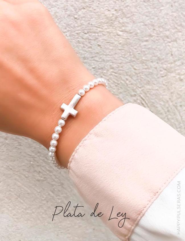 Pulsera perlas para Primera Comunión- Happypulseras